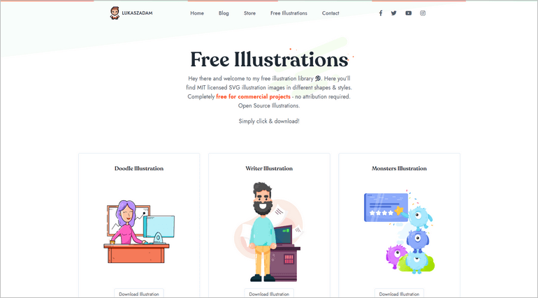 Lukasz Adam illustrations is a place to download free and beautiful illustrations.