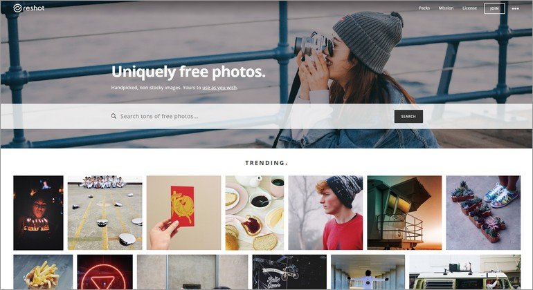 Reshot offers tons of creative free stock photos
