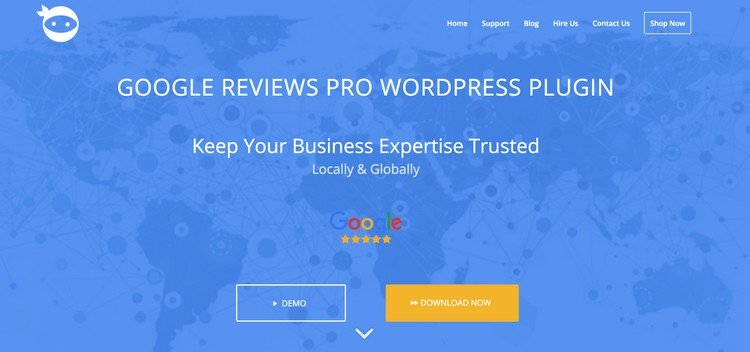 In this guide, we use the Google reviews pro WordPress plugin.