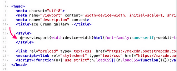Critical path CSS is an important style/CSS required to render above the fold contents.