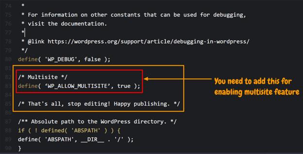 Activate the WordPress multisite feature.