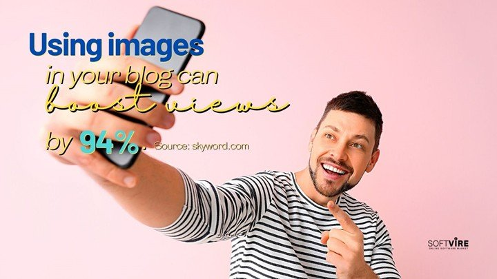 Add necessary images to your blog posts.