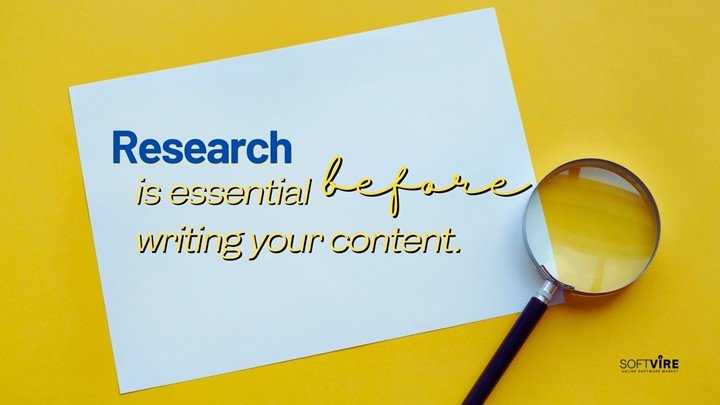 Publishing SEO Content- Research is essential before you begin writing your content.