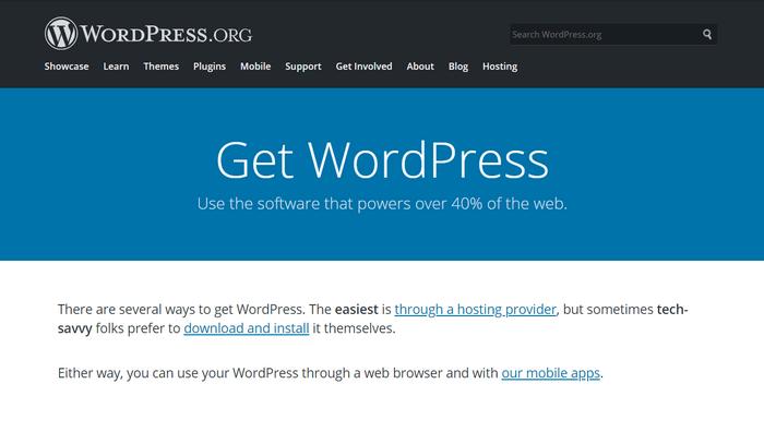Download WordPress.