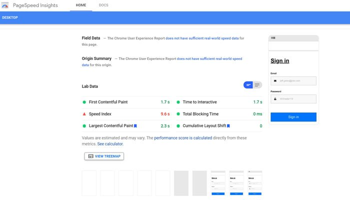 Page Speed Insights allows the analysis of a single webpage.