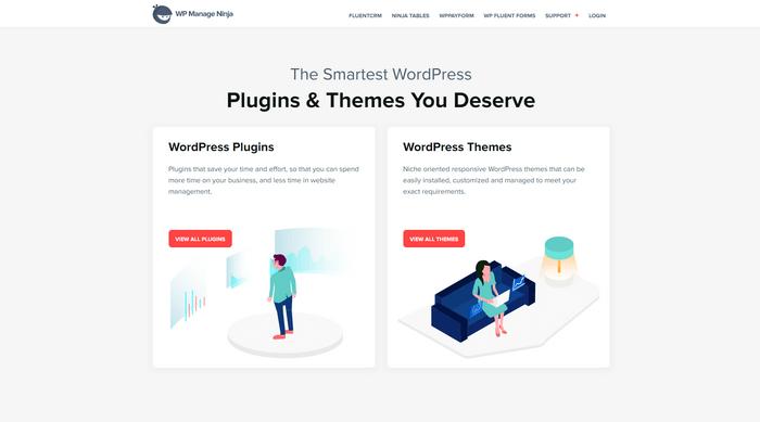 WPManageNinja have 4 market-leading products Fluent Form, Ninja Tables, WPPayForm, and AzonPress.