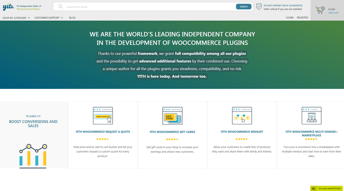 YITH is another WooCommerce plugin development company.