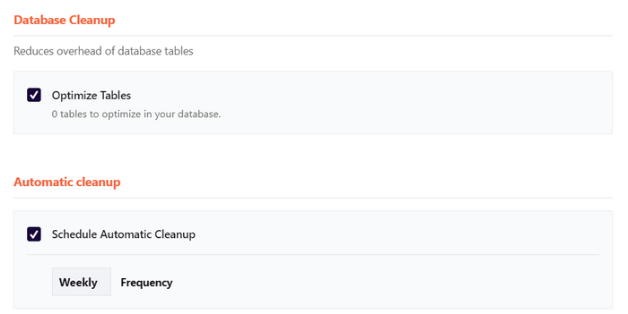 Consider cleaning the database to remove unwanted or bloat entries.