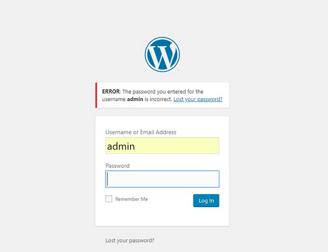 Sometimes you can't log in to your WordPress admin dashboard