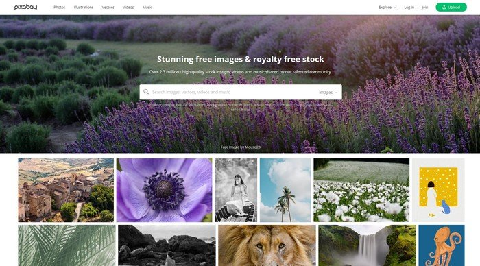 Pixabay is website with millions of resources available on the website.