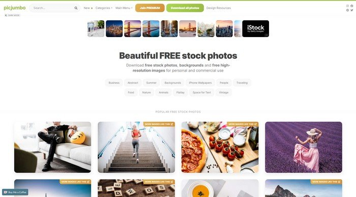 picjumbo is another popular resource with free stock photos.