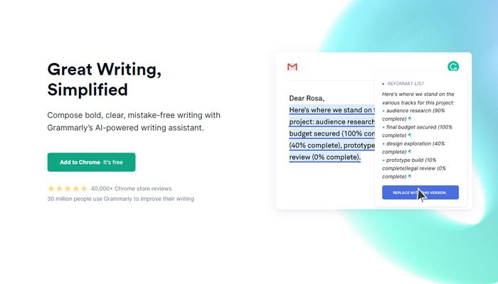 Grammarly is an effective grammar and spelling checker.