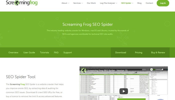 Screaming Frog is a powerful crawler aiming to audit websites.