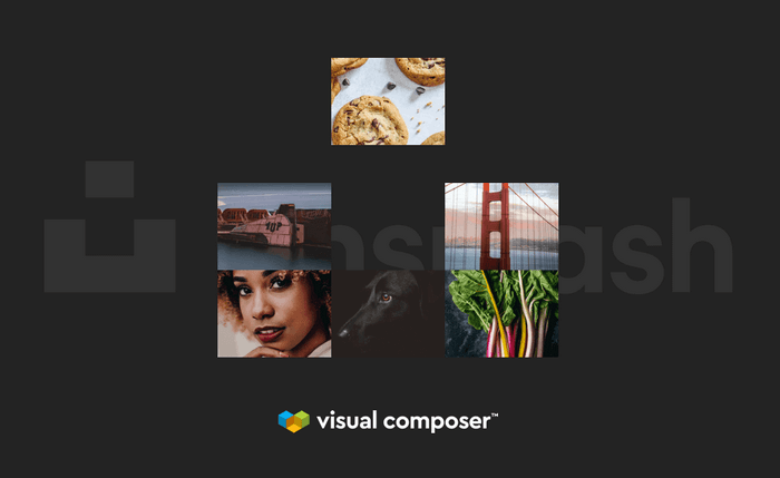 Available in the Visual Composer Hub is the Unsplash Stock Image Integration.